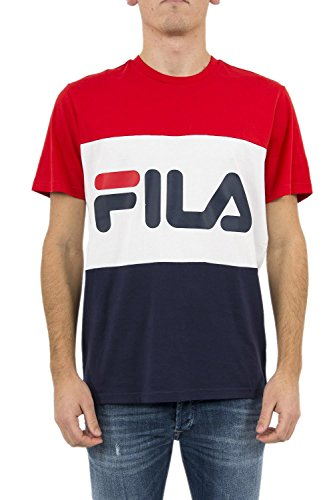 Fila Men T-Shirt Day, Größe:S, Farbe:Peacoat/High Risk Red/Bright White