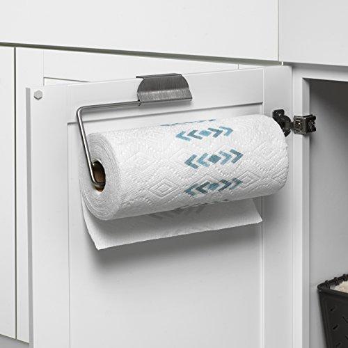 "Spectrum Diversified OTC/OTD Paper Towel Holder, 5""H x 11-3/4""W x 1-5/8""D, Brushed Nickel"