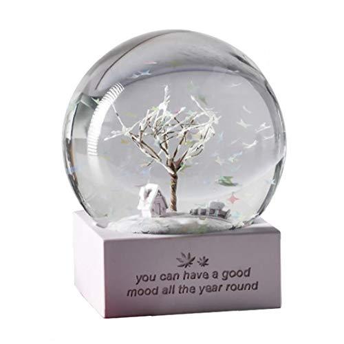 xuew Ins Snow Globe Glass Musik-Kristallkugel-kreative Karikatur-Mädchen Nordic Lila für Geburtstags-Geschenk-Desktop-Dekoration