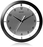 Seiko 11' Brushed Metal Wall Clock