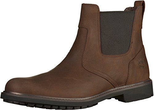 Timberland Stormbucks Chelsea, Botas Hombre, Marrón Burnished Dark Brown, 42 EU