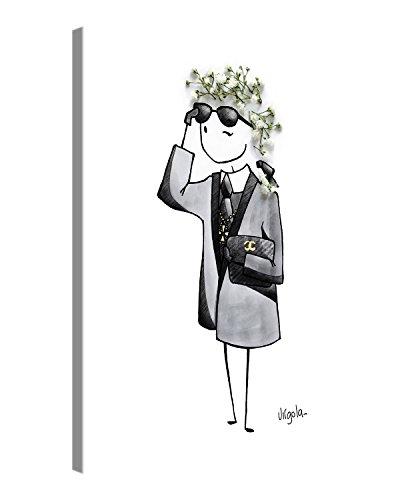 Premium Leinwanddruck 30x40 cm – Karl Lagerfeld – Kunstdruck Auf Leinwand Auf 2cm Holz-Keilrahmen Für Schlaf- Und Wohnzimmer Von Virgola Art
