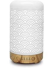 Difusor de aceite esencial de aromaterapia de metal, humidificador silencio de apagado automático sin agua y LED cambiado de 7 colores para SPA de oficina en casa