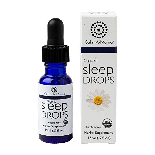 Calm-a-Mama Organic Sleep Drops for Pregnant Women, Nursing Moms & Babies – 0.5oz / 15ml Natural Sleep Remedies – Plant-Based Sleep Relief Drops Made in The USA with Chamomile Extract