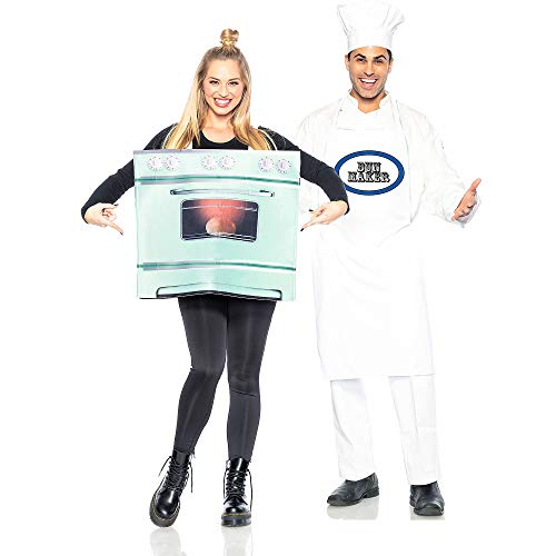 Seeing Red Chef and Bun in The Oven Couples Costumes for Adults, Standard Size,...