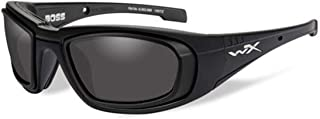 WILEYX BOSS Non-RX Safety Glasses Frame From Eyeweb (BOSS MATTE BLACK FRAME W/RX RIM & GREY LENS)