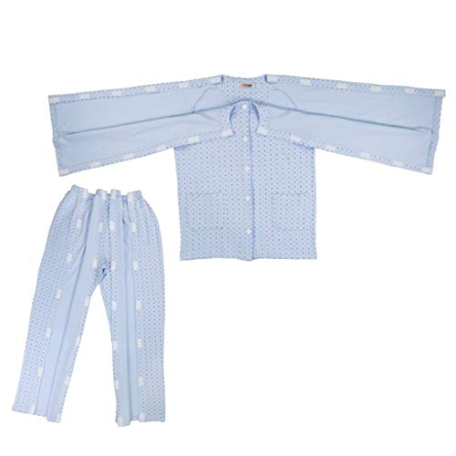 IPOTCH Erwachsene Abnehmbar Pflegekleidung Pflegehemd Krankenhemd Patientenhemd für Frakturen und Akupunktur Patienten - L