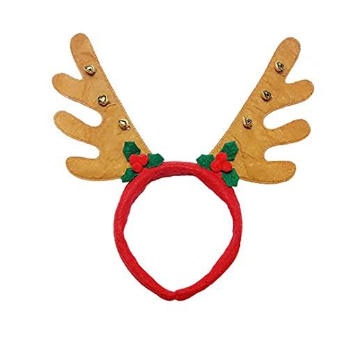 Decoraciones de Navidad Interior al Aire Libre, S 8.66 * 10.62 * 4.33 Pulgadas Reno de Navidad Corriente de Cuernos Hebilla de Cabeza con Hojas pequeñas