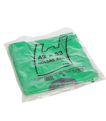 Various Bolsas de Plástico Tipo Camiseta Resistentes, Reutilizables y Recicladas Tamaño 70% Recicladas Cumple Normativa Aptas Uso Alimentario