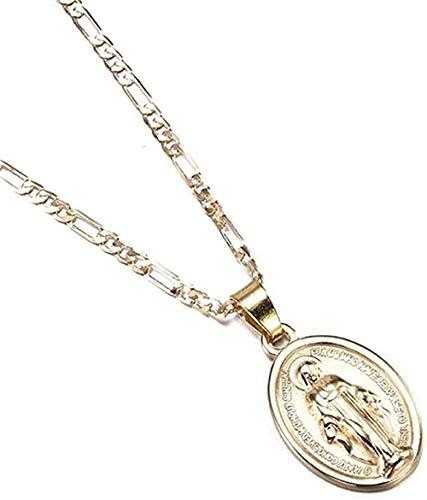 Zaaqio Collar Hombres S Mujeres S Católica Virgen Colgante Collar Joyería Regalo