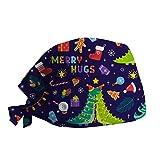 Navidad Gorro con Botones Sombrero de Lactancia Gorra de Trabajo Mujeres Impresión de Dibujos...