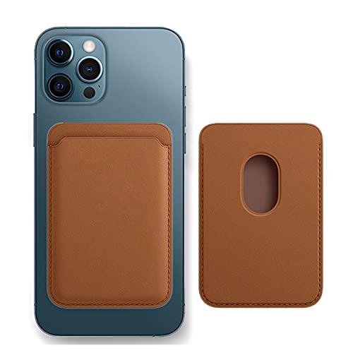 Tarjetero magnético de Cuero, Apto para iPhone 12 Mini / iPhone 12 / iPhone 12 Pro / iPhone 12 Pro MAX Tarjetero magnético antimagnético