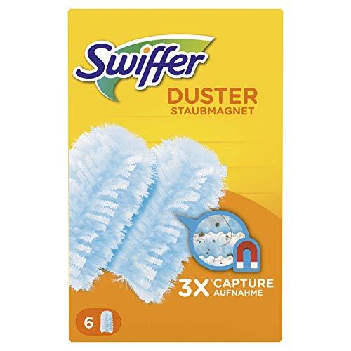 Swiffer Duster Refill Atrapa Y Retiene 6Recambios, Verde, 6 Unidad (Paquete de 1), 6