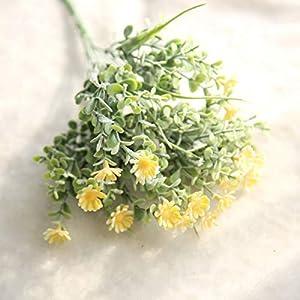 Barley33 Artificial Salvaje Pequeña Margarita Crisantemo Salvaje Plástico Jardín de Flores Boda Boda Decoración Navideña