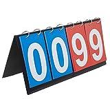 GOGO Sport Anzeigetafel Scoreboard Zähltafel Tragbar Flipper 0-99 für Verschiedene Sport