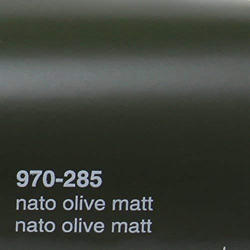 20,72€/m² Oracal 970RA 285 Nato Olive Matt gegossene Profi Autofolie 152cm breit BLASENFREI mit Luftkanäle