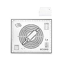 ベーキング表の動作のための適切な測定フォンダンマット、生地ローリングマットを持つ大規模なシリコーン菓子マットノンスティックベーキングマット、 JINHAN (Size : 60*50cm)