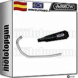 ARROW ESCAPE COMPLETO NO-CATALIZADO Y HOMOLOGADO PRO-RACE CON FONDO INOX EN NICHROM COMPATIBLE CON BRIXTON BX 125 X 2019 19 71899PRN + 71715MI