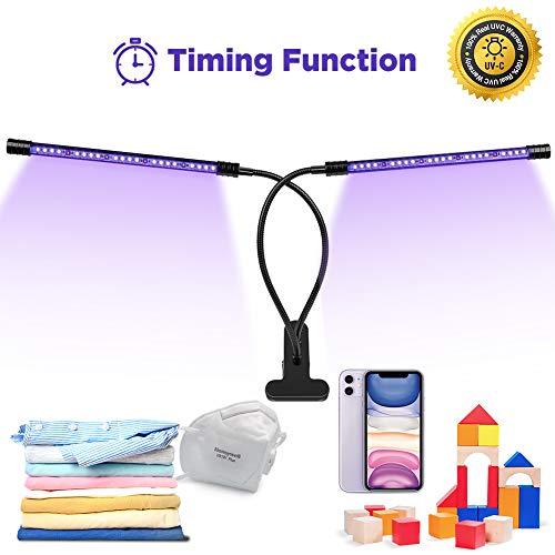 Preisvergleich Produktbild UVC Desinfektion Lampe Einstellbar - UV Sterilisation Lampe mit 260-280nm UV-C Wellenlänge Ozonfreie / 100% Reale UVC Garantiert