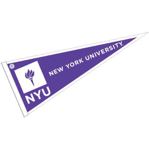 College Flags & Banners Co. New York University Pennant Full Size Felt