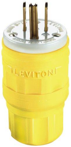 Leviton 12-00345L 14W47 15 Amp, 125 Volt, Straight Blade, Industrial Grade, pack of 1, Multi