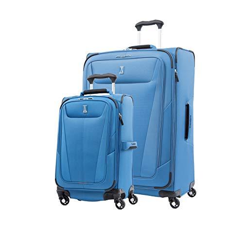 Travelpro Maxlite 5-Softside Expandable Spinner Wheel Luggage, Azure Blue, 2-Piece Set (21/29)