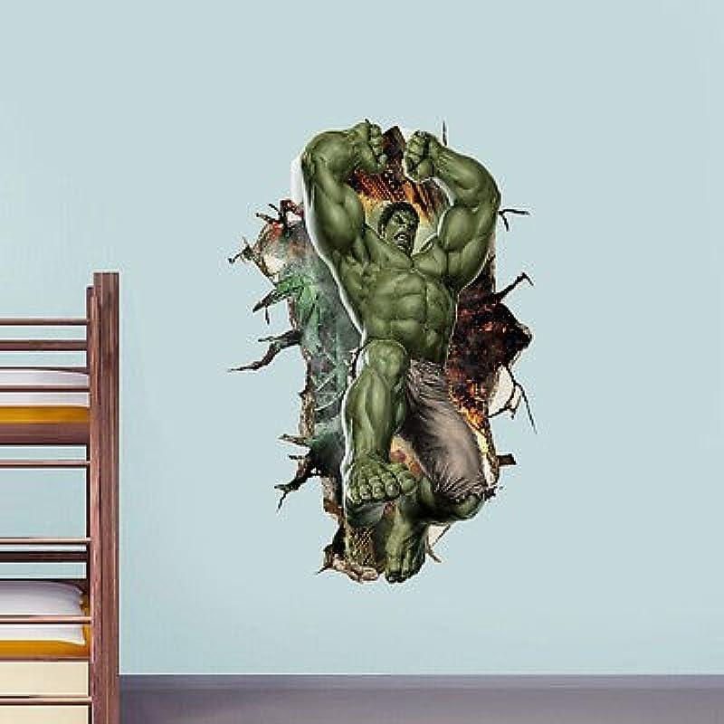 3D Cartoon Super Hero Avengers Hulk Peel And Stick Wall Sticker Kids Room Stickers Cartoon Decals Home Decor Wallpaper Poster