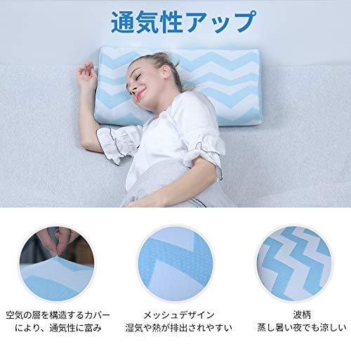 低反発枕枕快眠枕RECCIまくら頸椎の曲線をS字にキープストレートネック肩こり首こりいびき防止人間工学設計洗える枕カバー