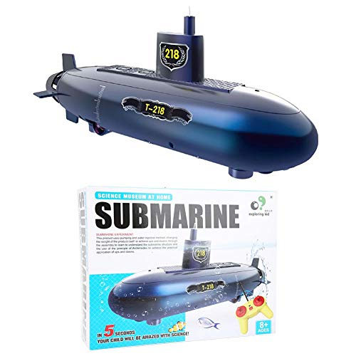 Mini RC Submarine, Control remoto Modelo de submarino Toy Diving Boat Ship Toy Experimento educativo Juguetes Set