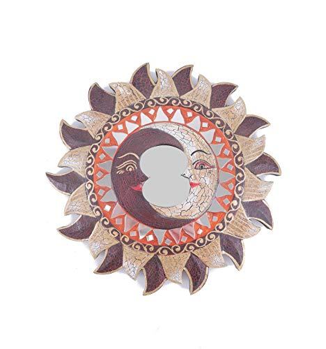 Artesanal - Espejo étnico con Forma de Sol