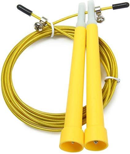 Fitness Guru Speed Jump Rope - Adjustable Skipping Rope for Men Women and Kids (10 Ft, Yellow)