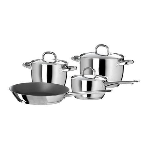 OUMBÄRLIG - 7-piece cookware s