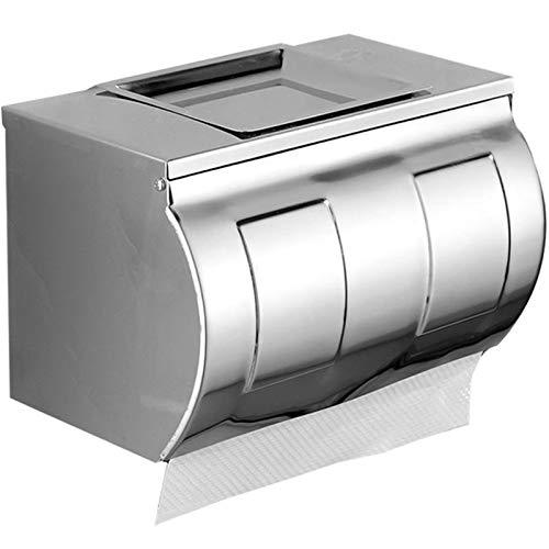 ßÃT Toilette Edelstahl Toilettenpapierbox mit Aschenbecherrolle Papierbox Papierhandtuchhalter Wasserdicht Free Punch Toilettenpapier Handtuchbox