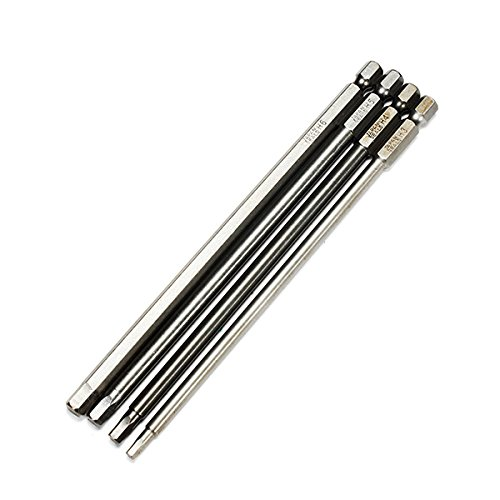 Jerome10Dan 50/mm en Acier S2/magn/étique 1//10,2/cm Tige hexagonale de pans Creux Embouts de Tournevis Lot de 8