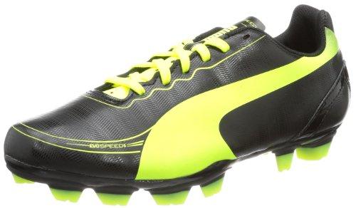 Puma evoSPEED 5.2 FG Jr 102887, Unisex-Kinder Fußballschuhe, Schwarz (black-fluo yellow 01), EU 35 (UK 2.5) (US 3.5)