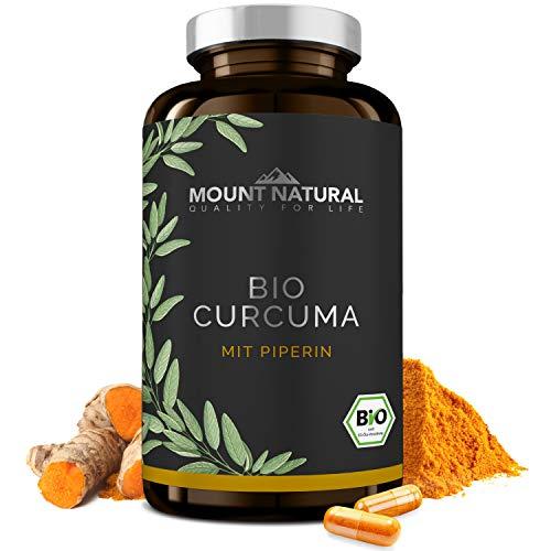 Bio Curcuma mit Piperin- 210 Kapseln - hochdosiert mit Curcumin & schwarzem Pfeffer -vegan & ohne Zusatzstoffe -laborgeprüft aus Deutschland