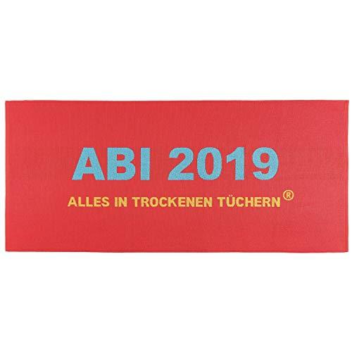 Egeria Strandlaken Strandtuch ABI 2019 Rot Abitur Geschenk 75 cm x 180 cm