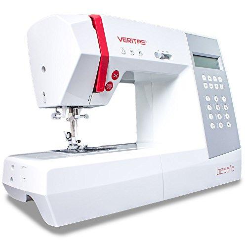 VERITAS 1310- Máquina de Coser de plástico y Metal, Color Blanco y Rojo, 42cm x 16cm x 30cm