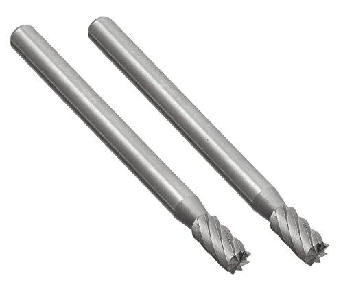 Proxxon 28722 Frässtifte aus Wolfram-Vanadium-Stahl Form Zylinder Ø3mm 2 Stück