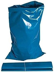 20 sacos de escombros azules resistentes de 75 cm x 50 cm. Ideal para la eliminación de material resistente.