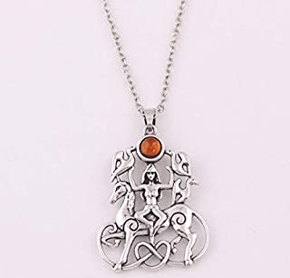 Bonyak Jewelry 18 Inch Rhodium Plated Necklace w// 4mm Faux-Pearl Beads and 5-Way//Chalice Charm