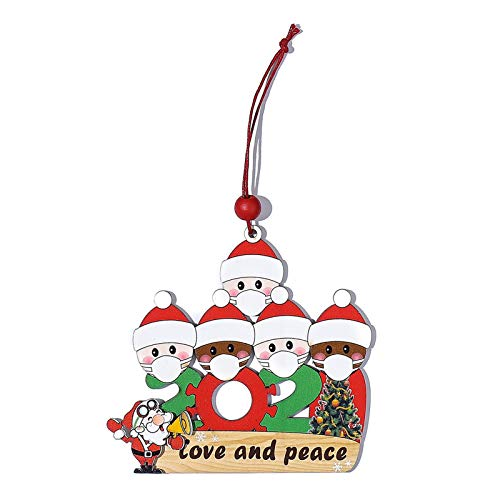 Christmas Santa Claus Ornaments Survivor Family Xmas Tree Hanging Pendant Gifts, Christmas Hanging Decoration Wooden
