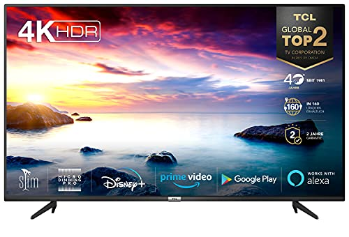 TCL 65BP615 LED Fernseher 65 Zoll (164cm) Smart TV (4K Ultra HD, HDR 10, Triple Tuner, Android TV, Micro Dimming PRO, Prime Video, Alexa und Google Assistant, Chromecast built-in) Schwarz