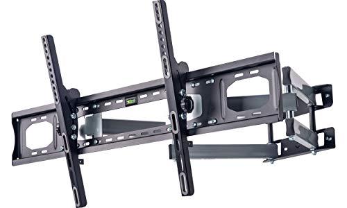 "AmazonBasics - Soporte de pared con movimiento en voladizo completo con seis brazos de largo alcance, para televisión, de 190,5 a 279,4 cm (75-110""), gama Performance"