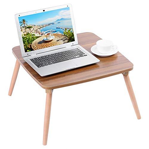 Pissente Klappbarer Lapdesk Betttisch, MDF+Buche Einfacher Computertisch Schreibtisch für Bett Sofa, 50 x 50 x 30 cm