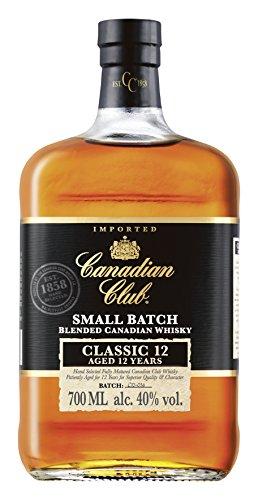 Canadian Club 12 Jahre Blended Canadian Whisky, lang anhaltender Geschmack mit ausbalancierten und sanften Aromen, 40% Vol, 1 x 0.7l