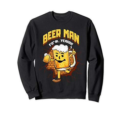 Lustiger Biermann mit Bierglas Alkohol Trinken Brauen Sweatshirt