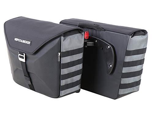 Hepco & Becker Seitenkoffer Xtravel für C-Bow anthrazit Set 2x25 Liter Motorrad