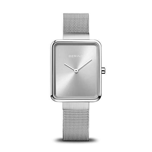 BERING Unisex-Armbanduhr Analog Quarz Uhr mit Edelstahl Armband 14528-000