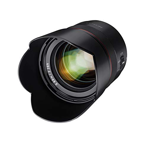 Samyang AF 75mm F1.8 Compact Auto Focus Telephoto Lens for Sony FE Mount, Black (SYIO75AF-E)